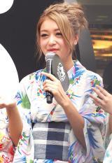 「AbemaTVサテライトスタジオ」オープンイベントに浴衣姿で登壇した池田美優 (C)ORICON NewS inc.