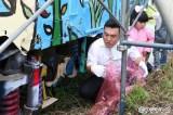 フジテレビ系『おじゃMAP!!』で香取慎吾が20年前に描いたキャンバス列車修復に奮闘