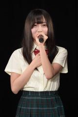 SKE48の21stシングル「意外にマンゴー」で初選抜された矢作有紀奈(C)AKS