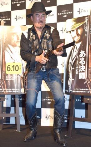 映画『ある決闘 セントヘレナの掟』の公開記念試写会に出席した千葉真一 (C)ORICON NewS inc.