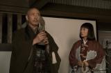 大河ドラマ『おんな城主 直虎』第23回(6月11日放送)より。南渓(小林薫)と直虎(柴咲コウ)は、近藤の菩提寺を訪れるが…(C)NHK