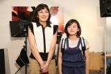 『母になる』クランクアップを迎えた(左から)藤澤遙、板谷由夏 (C)日本テレビ