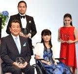 (前列左から)加山雄三、野田あすか、(後列左から)瀧山久志、服部百音 (C)ORICON NewS inc.