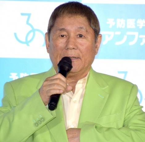 70歳でコケ芸を披露したビートたけし=『アンファー30周年企業発表会』 (C)ORICON NewS inc.