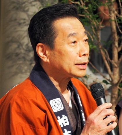 連続テレビ小説『ひよっこ』の新キャスト発表会見に出席した三宅裕司 (C)ORICON NewS inc.