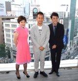 出身地の銀座で演出家生活30周年のパーティーを開いた宮本亜門氏(中央)と参加した市村正親(右)と大竹しのぶ (C)ORICON NewS inc.