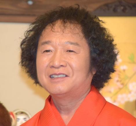 桂歌丸と共に取材に応じた『笑点』メンバー・山田隆夫 (C)ORICON NewS inc.
