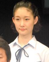 舞台『転校生』公開ゲネプロ後囲み取材に出席した芹那すみれ (C)ORICON NewS inc.