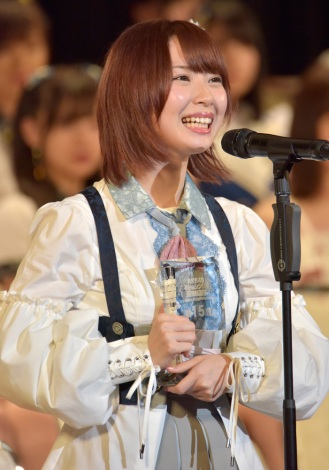 15位で2年ぶり選抜入りを果たしたSKE48・高柳明音(写真:島袋常貴)