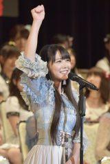 12位で念願の初選抜入りを果たしたNMB48・白間美瑠(写真:島袋常貴)