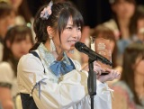 """念願の""""神7""""入りを果たしたAKB48・横山由依(写真:島袋常貴)"""