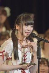 最終順位でも5位にランクインしたNGT48・荻野由佳(写真:島袋常貴)