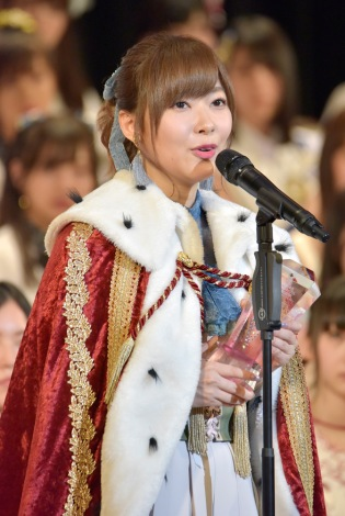 史上初の3連覇を達成したHKT48・指原莉乃(写真:島袋常貴)