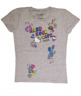 『Girls Hello Kitty Patch Tee』(税抜価格:3400円、サイズS~L)。(C)1976,2017 SANRIO CO.,LTD. APPROVAL NO.S581133