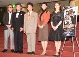 舞台『23階の笑い』のフォトセッション(左から)長谷川忍、じろう、なだぎ武、入山法子、立花瑠菜 (C)ORICON NewS inc.