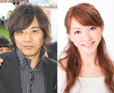 第1子誕生を報告した山口美沙(右)とライセンス・藤原一裕