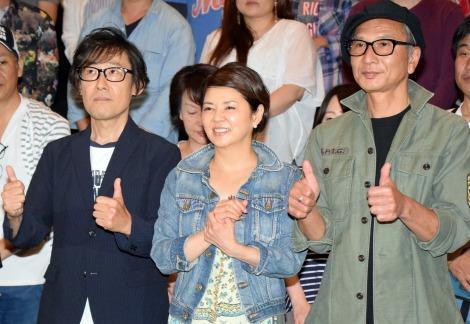 キャリア初の舞台あいさつに臨んだREBECCAの土橋安騎夫、NOKKO、高橋教之 (C)ORICON NewS inc.