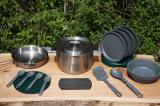 重ねて持ち運べるオールインワン調理器具セットベースキャンプクックセット(スタンレー)/1万4904円