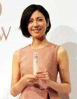 カネボウ化粧品『DEW』のプレス発表会に出席した松下奈緒 (C)oricon ME inc.