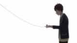科学の赤い糸で結ばれた相手とは…(C)ムサヲ・講談社/政府通知普及委員会