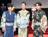映画『銀魂』ジャパンプレミアに出席した(左から)吉沢亮、中村勘九郎、柳楽優弥 (C)ORICON NewS inc.