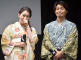 映画『銀魂』ジャパンプレミアに出席した(左から)早見あかり、安田顕 (C)ORICON NewS inc.