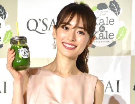 美の秘訣を明かした泉里香=『Q'SAI Kale Cafe表参道』オープニングイベント (C)ORICON NewS inc.