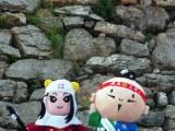 浜松城の築石にハート型の石が2つあるの、わかりますか?(C)ORICON NewS inc.