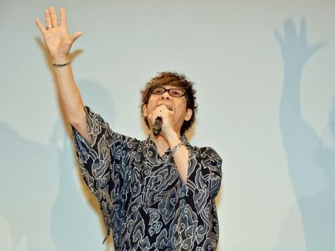『劇場版ポケットモンスター キミにきめた!』(7月15日公開)完成披露舞台あいさつで久々に「おーはー!」を披露した山寺宏一 (C)ORICON NewS inc.