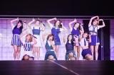 日本初単独公演を行ったTWICE(前列左から)サナ、モモ、ミナ、ツウィ(後列左から)ジヒョ、ダヒョン、ナヨン、チェヨン、ジョンヨン(田中聖太郎)
