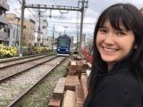 市川紗椰、イベントで鉄道談義