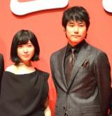 映画『ユリゴコロ』キックオフ会見に出席した吉高由里子(左)と松山ケンイチ (C)ORICON NewS inc.