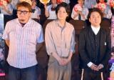 映画『銀魂』公開直前イベントに参加した(左から)福田雄一監督、小栗旬、ムロツヨシ (C)ORICON NewS inc.