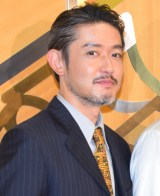 舞台『罠』ゲネプロ前の囲み取材に出席した筒井道隆 (C)ORICON NewS inc.