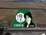 役所広司が主演する10月スタートのTBS系日曜劇場『陸王』(毎週日曜 後9:00)の田んぼアート完成予想図 (C)TBS