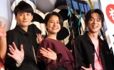 映画『銀魂』初日舞台あいさつに出席した(左から)岡田将生、長澤まさみ、菅田将暉 (C)ORICON NewS inc.