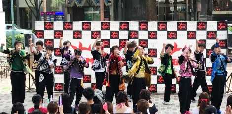 名古屋テレビ塔下でメジャーデビュー記念イベントを開催した「祭nine.」