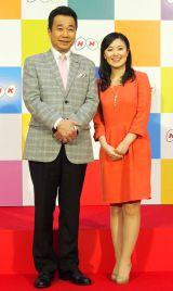 『きわめびと』を担当することが発表された(左から)三宅裕司、小林千恵アナ (C)ORICON NewS inc.