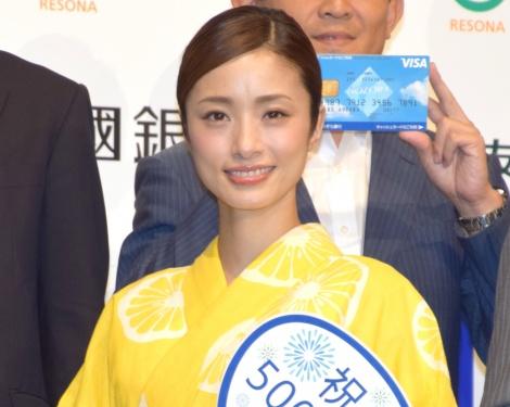 30代初の浴衣姿を披露した上戸彩 =『Visaデビットカード発行500万枚記念イベント』 (C)ORICON NewS inc.