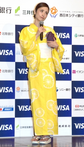 浴衣姿を披露した上戸彩 =『Visaデビットカード発行500万枚記念イベント』 (C)ORICON NewS inc.