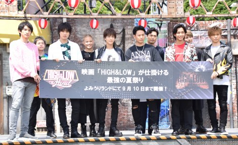 『HiGH&LOW THE LAND』『HiGH&LOW THE MUSEUM』の発表会模様 (C)ORICON NewS inc.