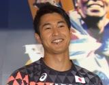『世界陸上ロンドン』の制作発表会見に参加した飯塚翔太選手
