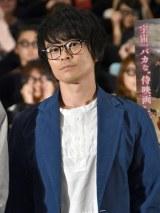 映画『銀魂』大ヒット御礼舞台あいさつにサプライズ登場した阪口大助 (C)ORICON NewS inc.
