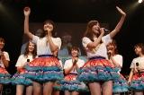 名古屋から3時間でお台場に駆けつけたSKE48の小畑優奈、松井珠理奈(左から)(C)AKS
