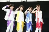 メジャーデビューが決定した九星隊(左から)藪佑介、中村昌樹、大池瑞樹、山口託矢