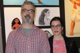 キャラクター・デザインのビル・シュワブ氏(左)とコスチュームデザイナーのネイサ・ボーヴェ氏