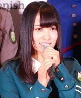 欅坂46公式ゲームアプリ『欅のキセキ』の制作発表イベントに登壇した菅井友香 (C)ORICON NewS inc.