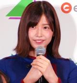 欅坂46公式ゲームアプリ『欅のキセキ』の制作発表イベントに登壇した渡邉理佐 (C)ORICON NewS inc.