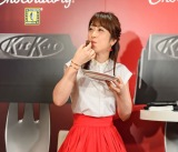 「キットカット ショコラトリー銀座本店」リニューアルイベントで、見事な食レポを披露した川田裕美アナ