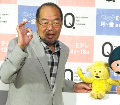 NHKでEテレの新番組『Q〜こどものための哲学〜』の試写会に出席したガッツ石松 (C)ORICON NewS inc.